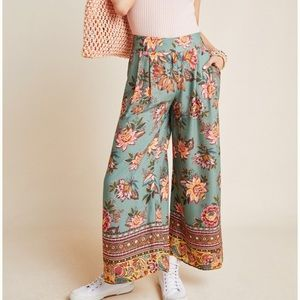 NWT Anthropologie farm rio wise leg pants small